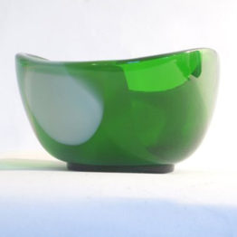 green and white glass