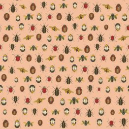 coleopter wall paper pink